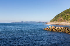 Nichinan coastline in Miyazaki, Kyushu, Japan royalty free stock photos