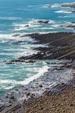 Nichinan coastline from Phoenix, viewpoint in Miyazaki, Kyushu,. Japan Royalty Free Stock Photo
