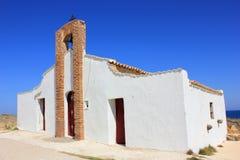 贴水Nicholaous教会,非绝对的扎金索斯州 免版税库存照片