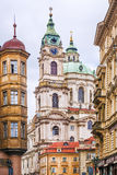 Nicholas Cathedral in Prague. Czech Republic.  Royalty Free Stock Photos