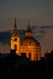 Nicholas Church na cidade Praga Imagem de Stock Royalty Free