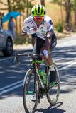Nicholas Dlamini of Team Dimension Data breaking away on the Tou. R Down Under Stage 3 18 January 2018 Stock Photography
