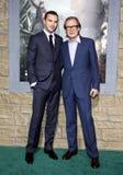 Nicholas Hoult och Bill Nighy Arkivbild