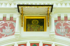 Nicholas the Miracle Worker in the wall of the Shipka Monastery Royalty Free Stock Photos