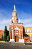 Nicholas Tower - Second Passage Tower in Red Square, Moscow Russ Royalty Free Stock Image