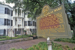 Nicholas Ware Mansion, Augusta, Georgië royalty-vrije stock fotografie