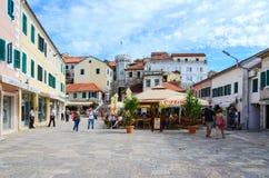 Nicholas Zhurkovicha Square in Castelnuovo, Montenegro Fotografia Stock