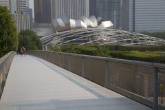 Nichols Bridgeway come in Chicago, IL Parco di millennio Fotografia Stock