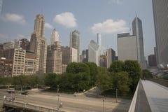 Nichols Bridgeway come in Chicago, IL Parco di millennio Fotografie Stock