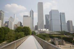 Nichols Bridgeway come in Chicago, IL Parco di millennio Immagini Stock