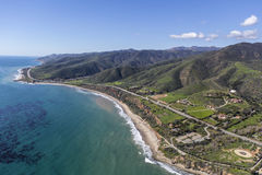 Nichols Canyon County Beach Aerial Malibu California Royalty Free Stock Image