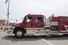 Nichols Rural Fire Department Truck. SEYMOUR, WI - AUGUST 4: Nichols Rural Fire Department Truck at the Annual Hamburger Festival Parade on August 4, 2012 in royalty free stock photo