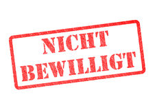 Nicht Bewilligt Stempel Images stock