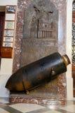 Nicht detoniert Bombe vom zweiten Weltkrieg auf Mosta-Kirche Stockbild