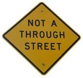 Nicht A durch Straße lizenzfreie stockfotografie
