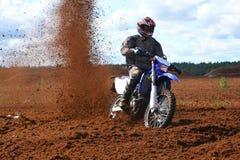 Nicht für den Straßenverkehr Motorrad im Schmutz lizenzfreies stockfoto