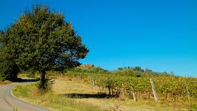 Nicht für den Straßenverkehr in Toskana, Italien lizenzfreies stockfoto
