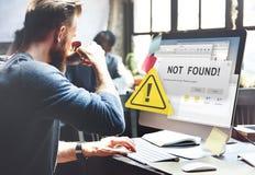 Nicht fand der 404 Fehler-Ausfall-warnendes Problem-Konzept Stockfotografie