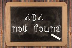 404 - nicht gefunden - Tafel Lizenzfreies Stockfoto