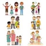 Nicht gewöhnliche Satzfamilie Stockbilder