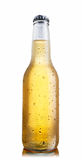 Nicht-glatte weiße Bierflasche stockfotografie