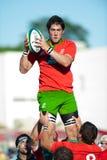Nicht identifizierte Rugbyspieler Lizenzfreies Stockbild