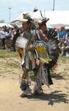 Nicht identifizierte Tänzer des amerikanischen Ureinwohners am NYC-Kriegsgefangen wow in Brooklyn Stockbild