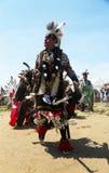 Nicht identifizierte Tänzer des amerikanischen Ureinwohners am NYC-Kriegsgefangen wow in Brooklyn Stockfoto