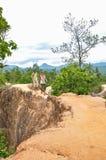 Nicht identifizierte Touristen, die bei Pai Canyon gehen Stockbild