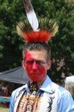 Nicht identifizierter amerikanischer Ureinwohner während 40. jährlichen indianischen Powwow Thunderbirds Lizenzfreies Stockfoto