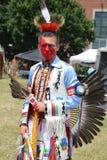 Nicht identifizierter amerikanischer Ureinwohner während 40. jährlichen indianischen Powwow Thunderbirds Lizenzfreie Stockfotos