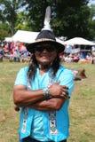 Nicht identifizierter amerikanischer Ureinwohner während 40. jährlichen indianischen Powwow Thunderbirds Stockfotos