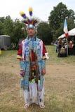 Nicht identifizierter amerikanischer Ureinwohner während 40. jährlichen indianischen Powwow Thunderbirds Stockbild