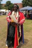 Nicht identifizierter amerikanischer Ureinwohner während 40. jährlichen indianischen Powwow Thunderbirds Lizenzfreies Stockbild