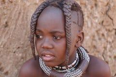 Nicht identifizierter Kind-Himba-Stamm in Namibia Lizenzfreies Stockfoto