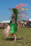 Nicht identifizierter Tänzer des amerikanischen Ureinwohners am NYC-Kriegsgefangen wow Lizenzfreie Stockfotografie