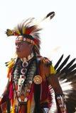 Nicht identifizierter Tänzer des amerikanischen Ureinwohners am NYC-Kriegsgefangen wow in Brooklyn Lizenzfreies Stockbild