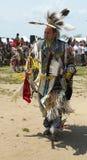 Nicht identifizierter Tänzer des amerikanischen Ureinwohners am NYC-Kriegsgefangen wow in Brooklyn Lizenzfreies Stockfoto
