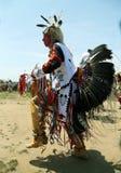 Nicht identifizierter Tänzer des amerikanischen Ureinwohners am NYC-Kriegsgefangen wow in Brooklyn Stockfotos