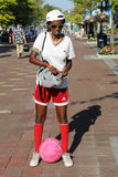 Nicht identifizierter Tennisfan bei Billie Jean King National Tennis Center in New York Lizenzfreies Stockbild