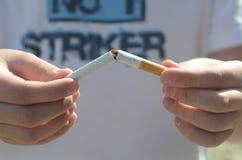 Nicht rauchend Stockfoto