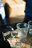 Nicht rostender Kaffebesetzer Lizenzfreie Stockfotografie