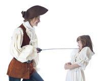 Nicht sehr mittlerer Pirat. stockfoto
