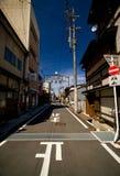 Nicht-städtische Straße in Takayama Stockbilder