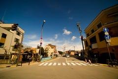 Nicht-städtische Straße in Takayama Stockfotos