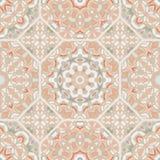 Nicht triviales Farbzusammenfassungs-Mandalamuster, vector nahtloses stock abbildung