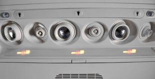 Nichtraucher kennzeichnen Sie innen Flugzeuge Lizenzfreies Stockbild