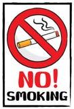 Nichtraucher unterzeichnen Sie herein Malereibürstenart stockbild