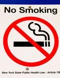 Nichtraucher unterzeichnen Sie herein New York stockfotos