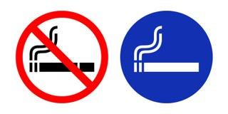 Nichtraucherzeichen und Raucherzone Stock Abbildung